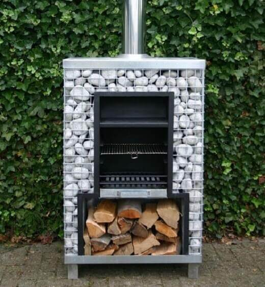 stone gabion barbeque