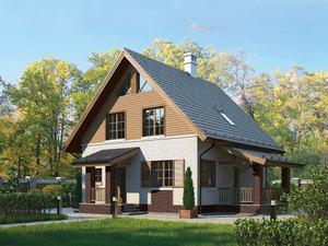 Дизайн фасада дома из газобетона