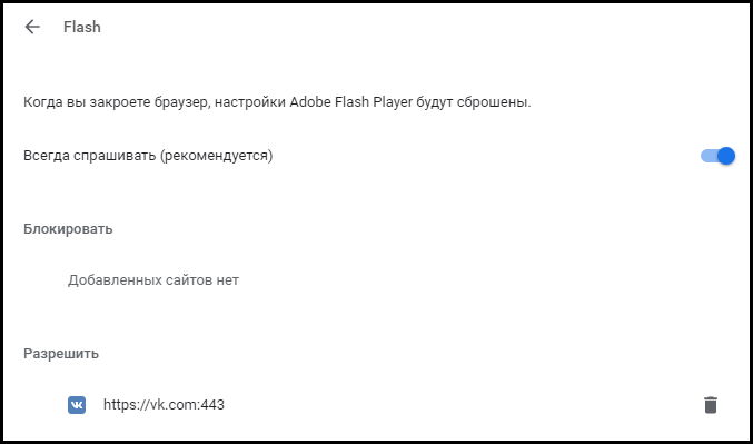 Chrome Plugins включить Adobe Flash Player